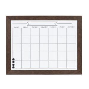 DesignOvation Beatrice Monthly Dry Erase Calendar Memo Board