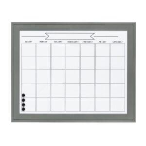 DesignOvation Bosc Monthly Dry Erase Calendar Memo Board