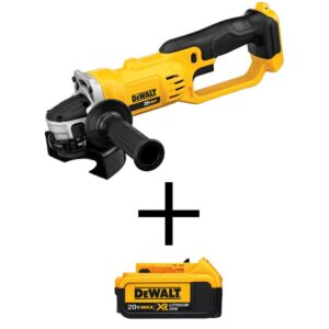 DEWALT 20-Volt MAX Cordless 4-1/2 in. to 5 in. Grinder with (1) 20-Volt 4.0Ah Battery
