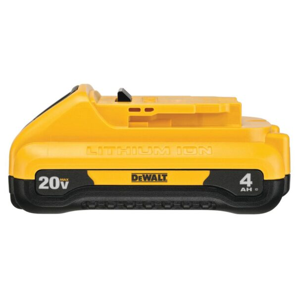 DEWALT 20-Volt MAX XR Cordless Brushless 4-1/2 in. Paddle Switch Small Angle Grinder with (1) 20-Volt 4.0Ah Battery & Charger