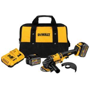 DEWALT FLEXVOLT 60-Volt MAX Cordless Brushless 4-1/2 in. Angle Grinder, (2) FLEXVOLT 6.0Ah Batteries & 1/2 in. Impact Wrench