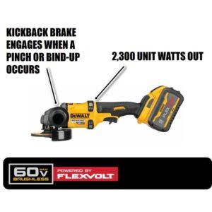 DEWALT FLEXVOLT 60-Volt MAX Brushless 4-1/2 in. - 6 in. Small Angle Grinder, (2) FLEXVOLT 9.0Ah Batteries & 6-1/2 in. Circ Saw