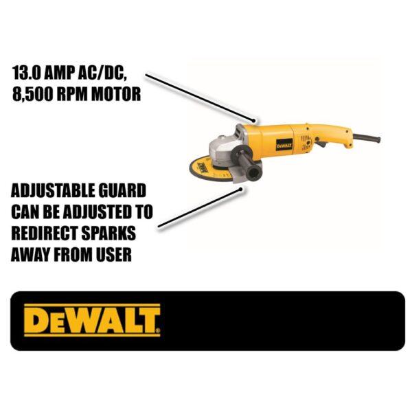 DEWALT 13 Amp 7 in. 8,000 RPM Medium Angle Grinder