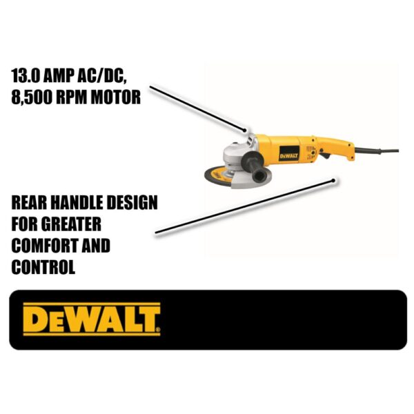 DEWALT 13 Amp 7 in. Heavy Duty Angle Grinder with Bag and Wheels