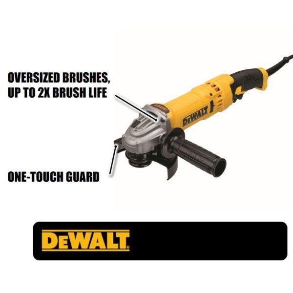 DEWALT 13-Amp Corded 4-1/2 in. - 5 in. High Performance Trigger Grip Angle Grinder