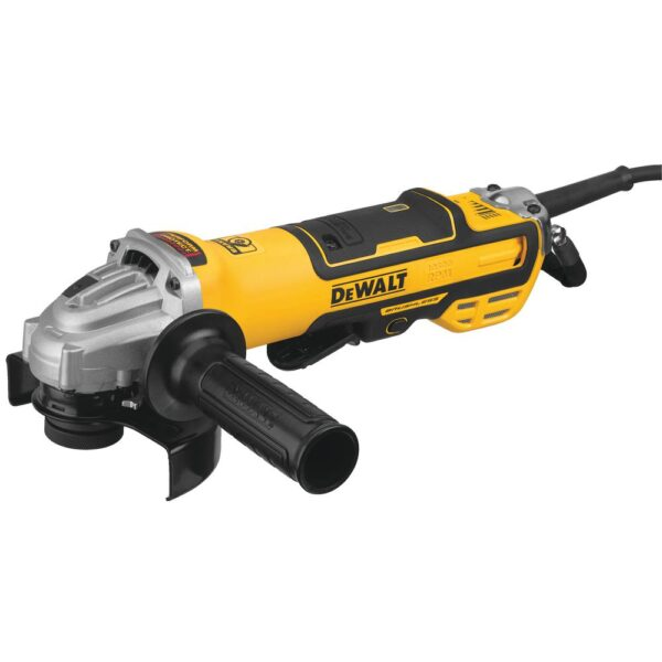 DEWALT 13 Amp Corded 5 in. Brushless Small Angle Grinder with No-Lock-On Paddle Switch and Variable Speed