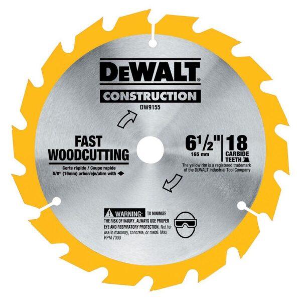 DEWALT 20-Volt MAX Cordless 6-1/2 in. Circular Saw with Bonus 6-1/2 in. 18-Tooth Fast Cutting Carbide Circular Saw Blade