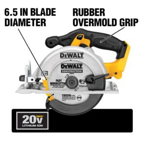 DEWALT 20-Volt MAX Cordless 6-1/2 in. Circular Saw with (1) 20-Volt Battery 3.0Ah & Charger