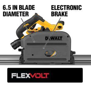 DEWALT FLEXVOLT 60-Volt MAX Cordless Brushless 6-1/2 in. Track Saw with (2) FLEXVOLT 6.0Ah Batteries