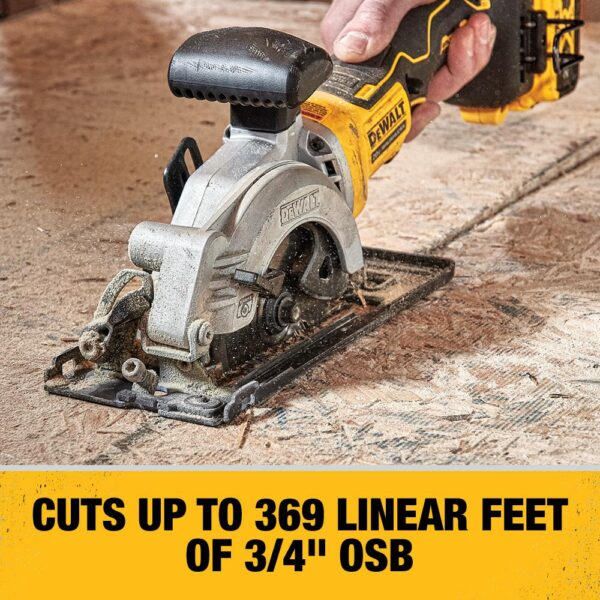 DEWALT ATOMIC 20-Volt MAX Cordless Brushless 4-1/2 in. Circular Saw with (1) 20-Volt Battery 3.0Ah & Charger
