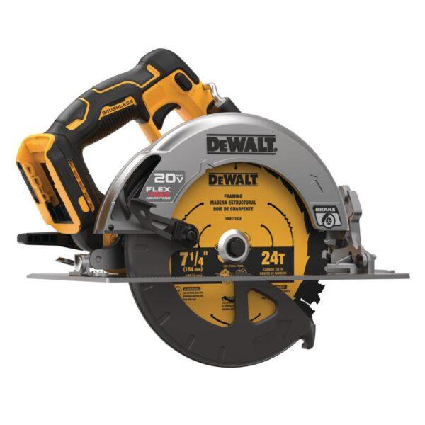DEWALT 20-Volt MAX Cordless Brushless 7-1/4 in. Circular Saw with FLEXVOLT ADVANTAGE and (1) FLEXVOLT 6.0Ah Battery Kit