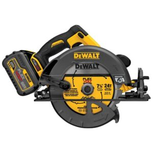 DEWALT FLEXVOLT 60-Volt MAX Cordless Brushless 7-1/4 in. Circular Saw with (2) FLEXVOLT 6.0Ah Batteries