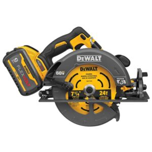 DEWALT FLEXVOLT 60-Volt MAX Cordless Brushless 7-1/4 in. Circular Saw with Brake, (2) FLEXVOLT 9.0Ah Batteries & Recip Saw