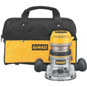 DEWALT 2-1/4 HP EVS Fixed Base Router Kit with Soft Start