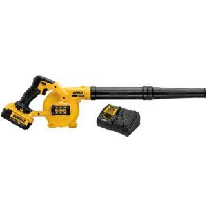 DEWALT 20-Volt MAX Cordless Compact Jobsite Blower 135 MPH 100 CFM with (1) 20-Volt 4.0Ah Battery & Charger