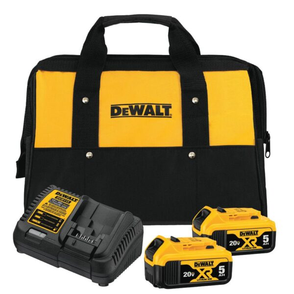 DEWALT 20-Volt MAX XRCordless Brushless 5 in. Random Orbital Sander with (2) 20-Volt Batteries 5.0Ah & Charger