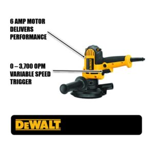 DEWALT 6 Amp Corded Variable Speed Disk Sander with 5 in., 8 Hole Hook and Loop Pad, Dust Shroud and Wrench