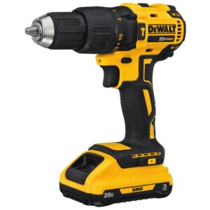 DEWALT 20-Volt MAX Cordless Brushless 1/2 in. Hammer Drill, (1) 20-Volt 3.0Ah Battery, Charger, and 6-1/2 in. Circular Saw