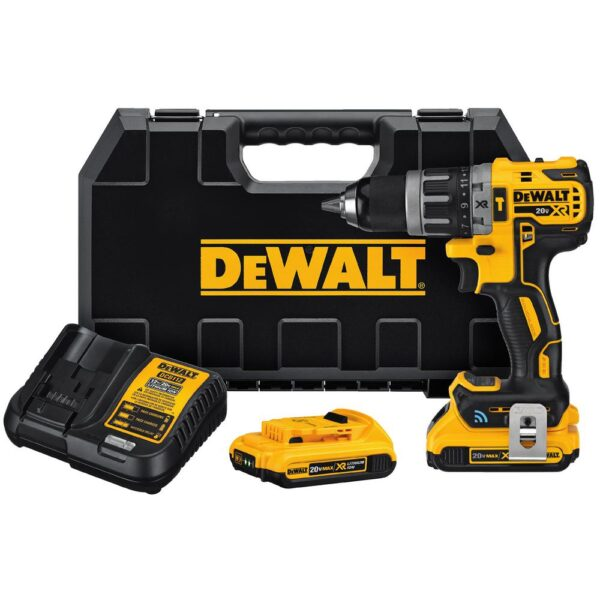 DEWALT 20-Volt MAX XR with Tool Connect Cordless Compact 1/2 in. Hammer Drill with (2) 20-Volt 2.0Ah Batteries & Charger