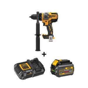 DEWALT 20-Volt MAX Cordless Brushless 1/2 in. Hammer Drill/Driver with FLEXVOLT ADVANTAGE with (1) FLEXVOLT 6.0Ah Battery Kit
