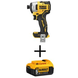 DEWALT ATOMIC 20-Volt MAX Cordless Brushless Compact 1/4 in. Impact Driver with (1) 20-Volt 5.0Ah Battery