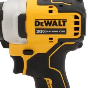 DEWALT ATOMIC 20-Volt MAX Cordless Brushless Compact 1/4 in. Impact Driver, (2) 20-Volt 1.3Ah Batteries, Charger & Bag