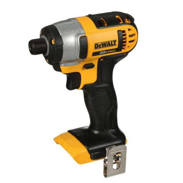 DEWALT 20-Volt MAX Lithium-Ion Cordless 1/4 in. Impact Driver (Tool-Only) with 20-Volt MAX Compact Li-Ion 3.0 Ah Battery Pack