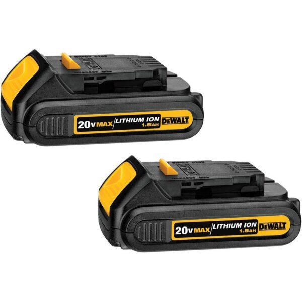 DEWALT 20-Volt MAX Cordless 1/4 in. Impact Driver, (2) 20-Volt 1.3Ah Batteries, Charger & Bag