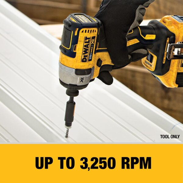 DEWALT 20-Volt MAX XR Cordless Brushless 3-Speed 1/4 in. Impact Driver with (1) 20-Volt 5.0Ah Battery