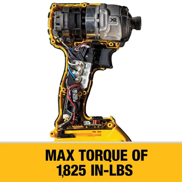 DEWALT 20-Volt MAX XR Cordless Brushless 3-Speed 1/4 in. Impact Driver with (2) 20-Volt 4.0Ah Batteries & Charger