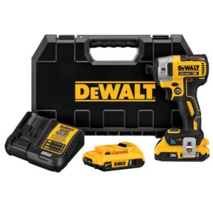 DEWALT 20-Volt MAX XR with Tool Connect Cordless Brushless 1/4 in. Impact Driver with (2) 20-Volt 2.0Ah Batteries & Charger