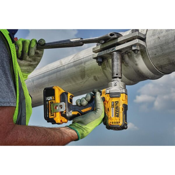 DEWALT 20-Volt MAX XR Cordless Brushless 1/2 in. Mid-Range Impact Wrench with Detent Pin Anvil, (2) 20-Volt 5.0Ah Batteries