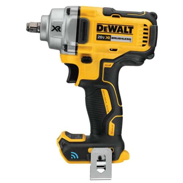 DEWALT 20-Volt MAX XR Cordless Brushless 1/2 in. Mid-Range Impact Wrench with Hog Ring Anvil & Tool Connect (Tool-Only)