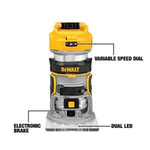 DEWALT 20-Volt MAX XR Cordless Brushless Jigsaw with Brushless Router & (2) 20-Volt 5.0Ah Batteries