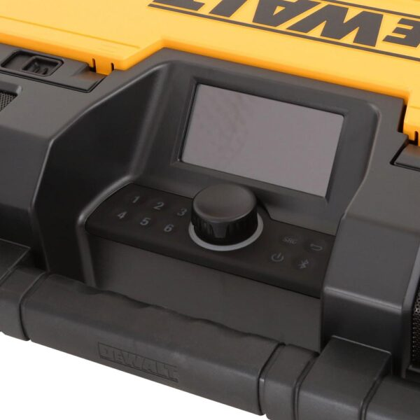 DEWALT TOUGHSYSTEM 14-1/2 in. Portable and Stackable Radio/Digital Music Player with Bonus TOUGHSYSTEM Tool Box Cooler