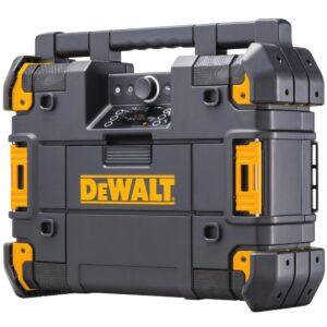 DEWALT TSTAK Stackable & Portable Bluetooth Radio & Charger Compatible with 12-Volt, 20-Volt & 60-Volt FLEXVOLT Batteries