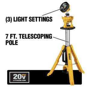 DEWALT 20-Volt MAX 3000-Lumen Tripod Light with (1) 20-Volt Battery 5.0Ah