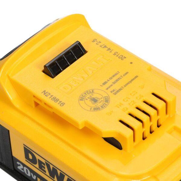 DEWALT 20-Volt MAX Cordless 7-1/4 in. Sliding Miter Saw with (1) 20-Volt Battery 4.0Ah