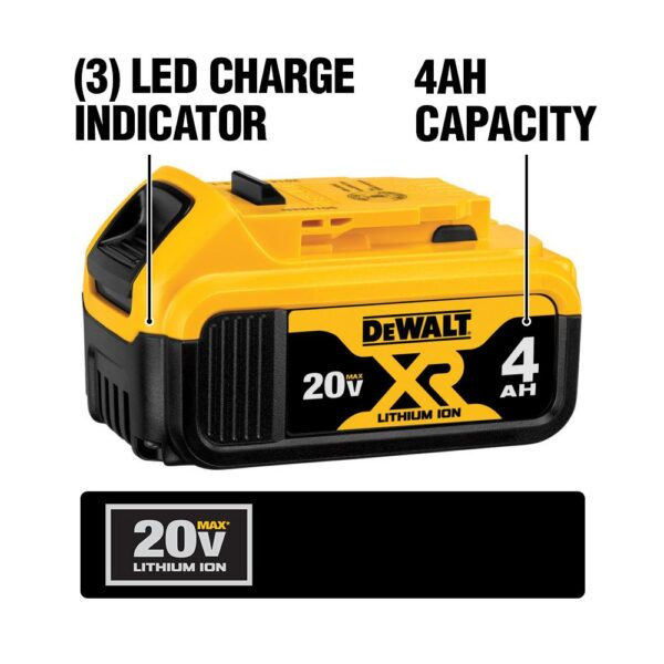 DEWALT 20-Volt MAX Lithium-Ion Cordless 7-1/4 in. Miter Saw with 20-Volt MAX XR Premium Lithium-Ion (1) 5.0Ah Battery