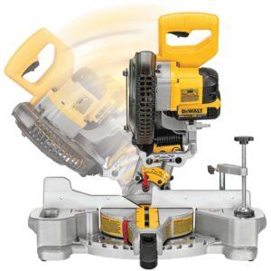 DEWALT 20-Volt MAX Cordless 7-1/4 in. Sliding Miter Saw with (1) 20-Volt Battery 4.0Ah & Cordless Jigsaw