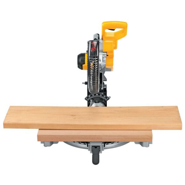 DEWALT 15 Amp 12 in. Double Bevel Compound Miter Saw with 24 in. Tote with Organizer