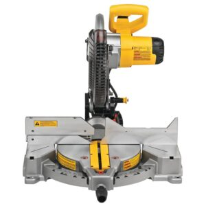 DEWALT 15 Amp Corded 12 in. Compound Single Bevel Miter Saw with 12 in. Miter Saw Blade 32-Teeth and 80-Teeth (4-Pack)