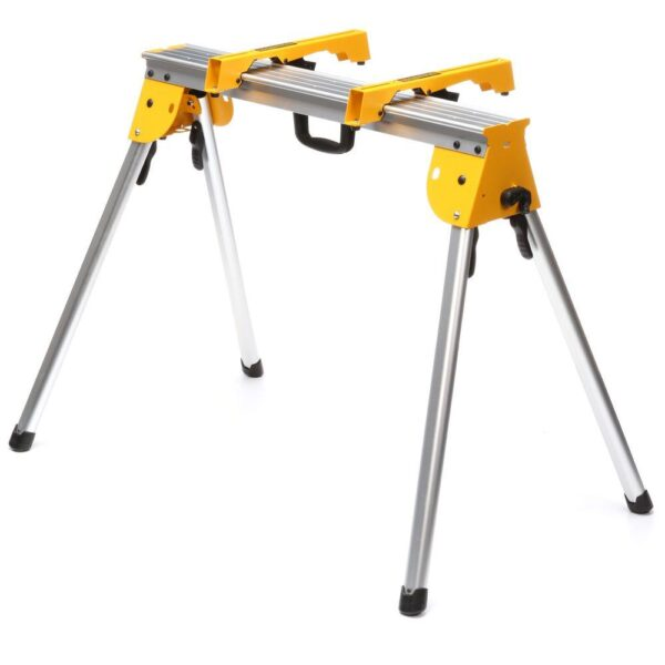 DEWALT 15 Amp Corded 12 in. Compound Single Bevel Miter Saw with Heavy-Duty Work Stand