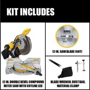 DEWALT 15 Amp Corded 12 in. Double-Bevel Compound Miter Saw with Cutline LED