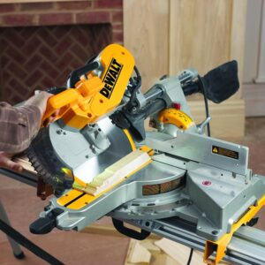 DEWALT 15 Amp Corded 12 in. Double-Bevel Sliding Compound Miter Saw with Bonus 20 Series 12 in. 60T Fine Finish Saw Blade