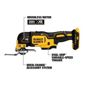 DEWALT 20-Volt MAX XR Cordless Brushless Oscillating Multi-Tool with (1) 20-Volt 1.5Ah Battery & Charger