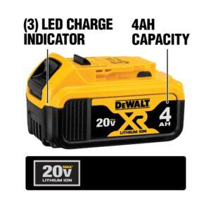 DEWALT 20-Volt MAX XR Cordless Brushless 3-Speed Oscillating Multi-Tool with (1) 20-Volt 2.0Ah Battery & (1) 4.0Ah Battery