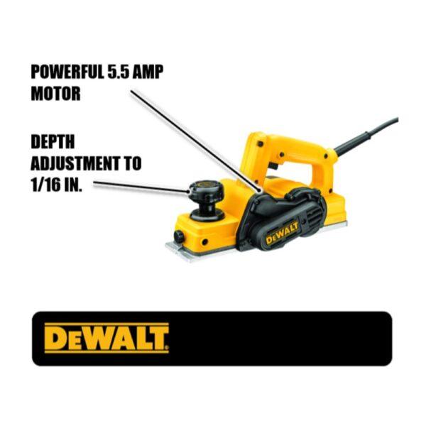 DEWALT 5.5 Amp Corded 3-1/4 in. Portable Hand Planer