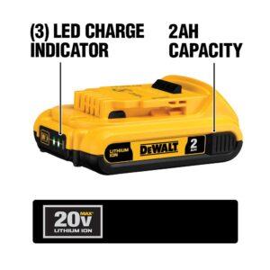 DEWALT 20-Volt MAX XR Cordless Brushless 3-1/4 in. Planer with (1) 20-Volt 2.0Ah Battery