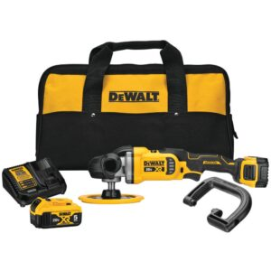 DEWALT 20-Volt MAX XR Cordless Brushless 7 in. Variable Speed Rotary Polisher with (2) 20-Volt 5.0Ah Batteries & Charger